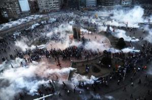 Taksim Square under tear gas