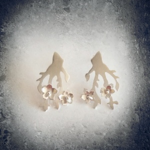 Cherry Blossoms Earrings by Sezen Tulgarer