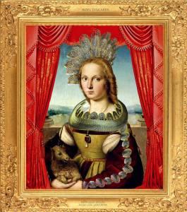 Dama col Liocorno reinterpreted by Sezen Tulgarer